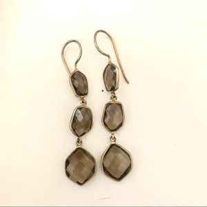 Smoky Hydro Quartz Earrings